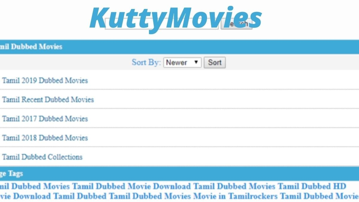 KuttyMovies 2020: Latest HD Tamil Movies Illegal Download Kuttymovies Website, Kutty Movies