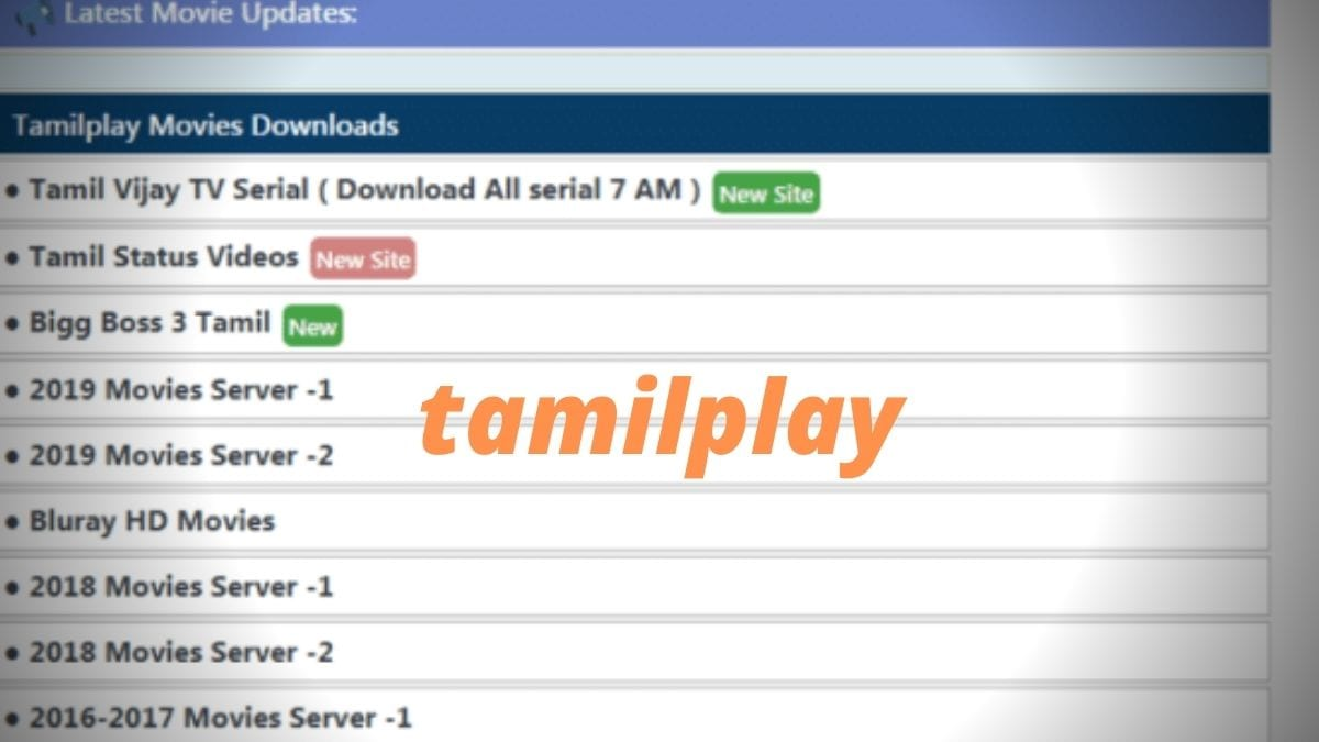 TamilPlay 2020: TamilPlay Download Latest Tamil HD Movies Online Illegal, TamilPlay New Movies