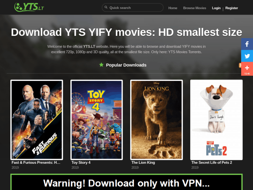 Yify Movies 2020: Download illegal HD Hollywood Movies Website YTS, Latest Yify Movies