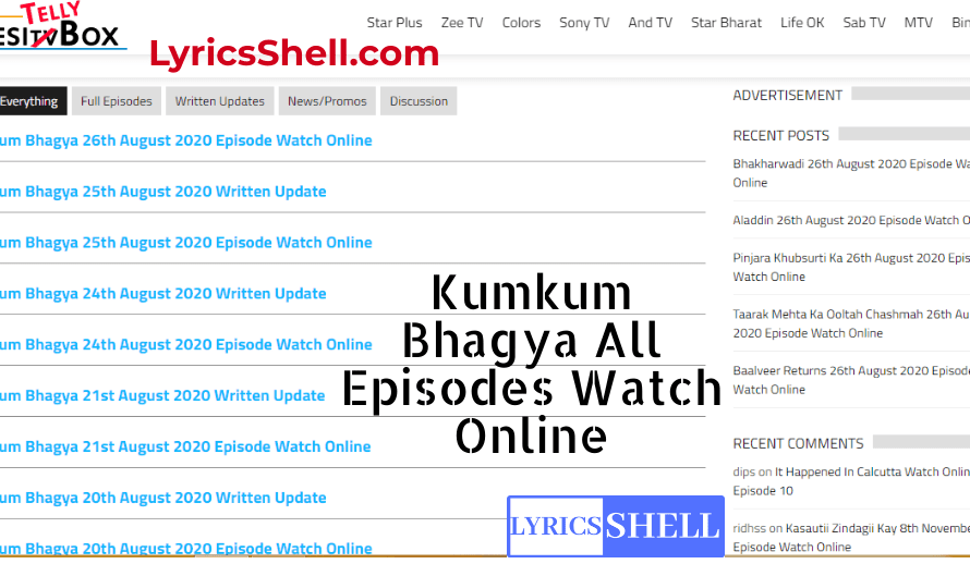 Kumkum Bhagya DesiTVBox Watch Kumkum Bhagya online on DesiTVBox