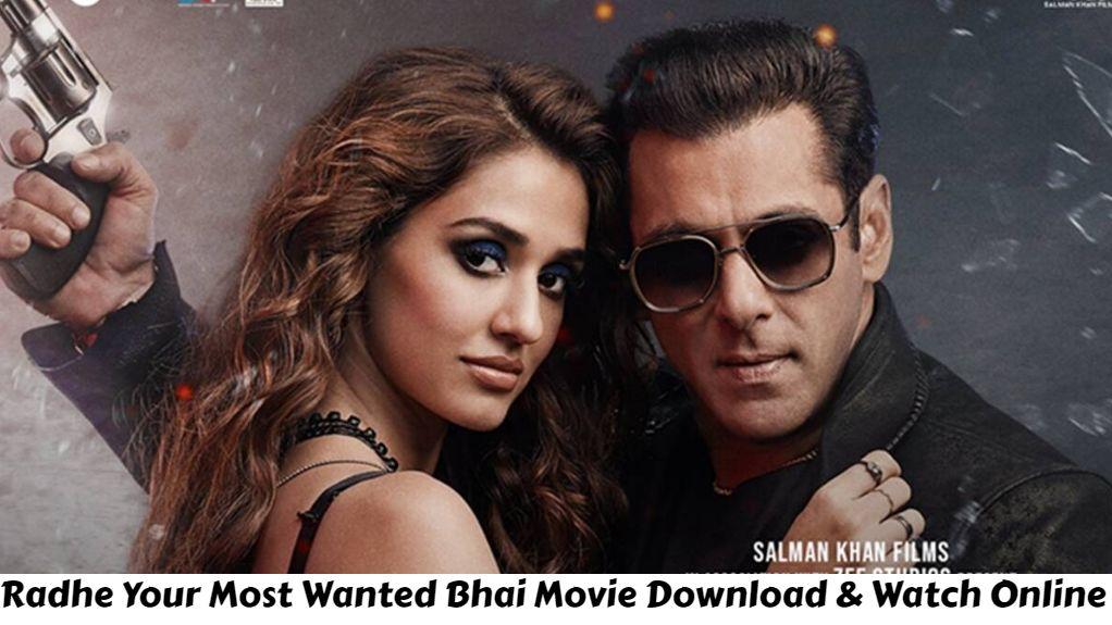 Salman Khan's Radhe (2021) Full Movie Hindi Leaked Online On Filmywap, Filmyzilla - Radhe Your Most Wanted Bhai Full Movie Watch Online Free On ZEE5