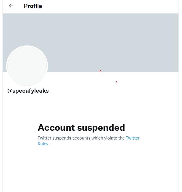 Specafyleaks Twitter page Explored