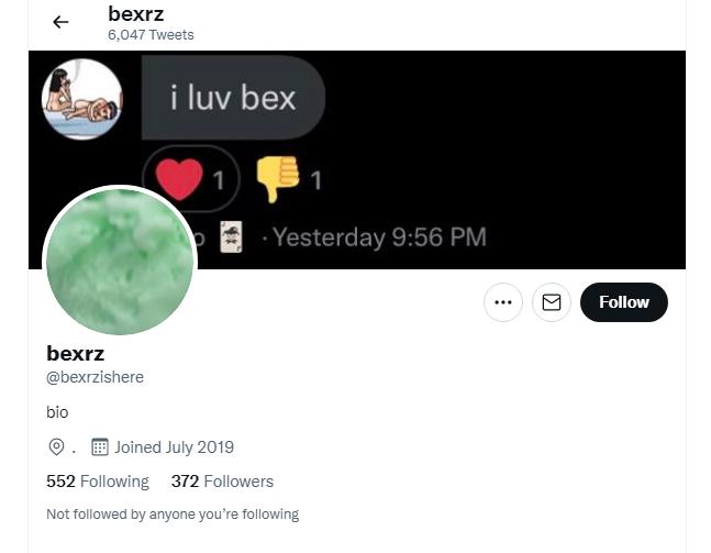 Bexr_Z Twitter page Explored