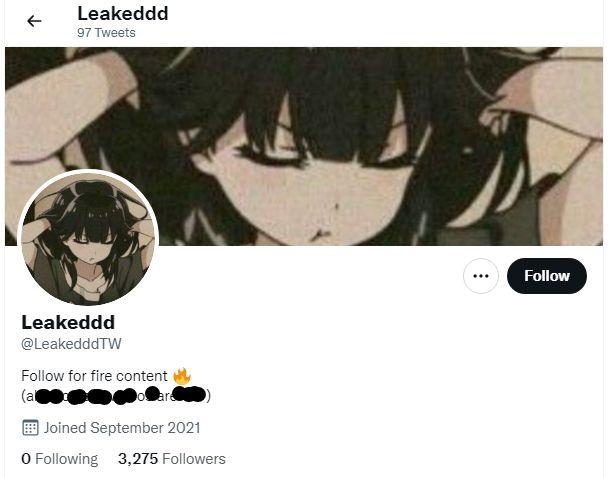 Leakedddtw Twitter page Explored
